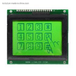 رسومات الشاشة الخضراء 128X64 18pins شاشة عرض LCD ذكية قياسية على مستوى الصناعة لوحة التحكم في عرض وحدة التحكم Ks0107