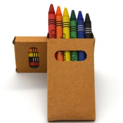 子供の文房具の安全デッサンの高品質の丸型の無毒な6つのカラー優れたワックスクレヨン