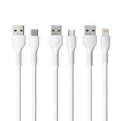 Для мобильных телефонов Аксессуары 2.4A ПВХ кабель передачи данных USB Micro Тип C зарядное устройство USB кабель