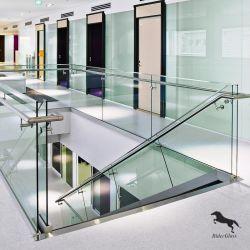 6mm-10mm Frameless Innen-/im Freien ausgeglichenes Glas Treppen-Glasgeländer-für Gebäude