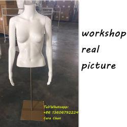 جسم نصفيّة مع زجاجيّة حقيرة بيضاء بدون رأس قميص عرض عارض الأزياء