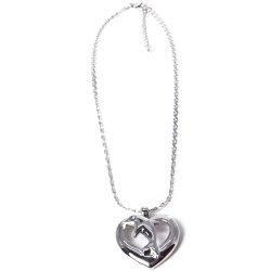 Мода серебра в форме сердца с дельфинами, подвесная цепочка