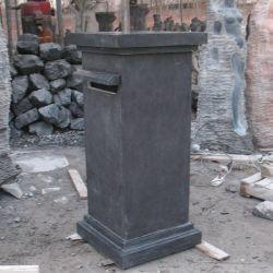 Mármore negro esculpida em pedra caixas de correio