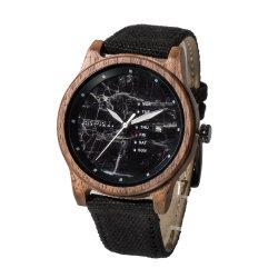 Unisex Watch Canvas Straps Band Custom Logo giapponese all'ingrosso realizzato a mano Orologio in legno di bambù Movt con marchio