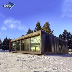 Nouveau modèle de vie modulaire de luxe villas préfabriqués d'expédition Portable Mobile dortoir de conteneurs en bois chambre avec toilettes mobile