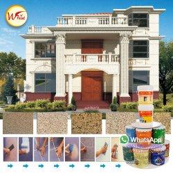 La pintura de aerosol de materiales de construcción de la decoración de textura 5D de la pintura de pared exterior revestimiento de granito líquido