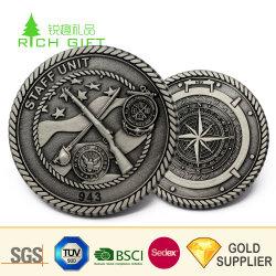 고품질 주문 금속 아연 합금 금 여행자 기념품을%s 은에 의하여 도금되는 중국 만리장성 동전
