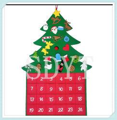 Les calendriers de Noël de l'avent pendentifs Accueil décoration des arbres de Noël Santa Claus Wall Hanging Calendrier