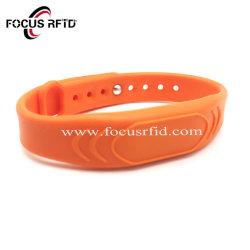 RFID bracelet en silicone pour le contrôle des accès (Classic S50 Puce)