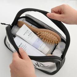 Sacchetto impermeabile glassato multifunzionale della lavata del semicerchio di scatto di affari del sacchetto trasparente di trucco