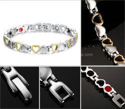 B08- magnétique en titane Bracelet en acier inoxydable de germanium