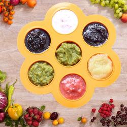 Picadas de ovos de silicone moldes, comida para bebé recipientes congelador e bandejas bandejas de cubos de gelo