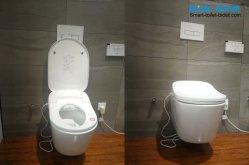 Sat550 het Muur Gehangen Bidet van het Toilet Sanitaire Waren: Het Europese Opgeschorte Slimme Toilet van het Type