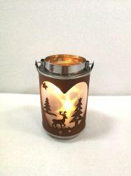 Светодиод лазерная резка металла Рождества фонарем украшения