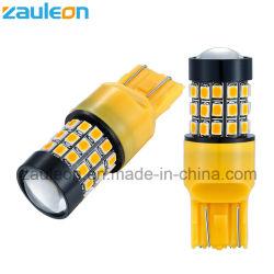 정면 우회 신호 빛 주차 램프를 위한 T20 7440 W21W 7443 W21/5W 616lm 노란 LED 전구