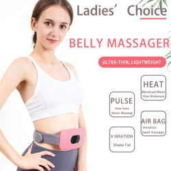 Hezheng Pulso eléctrico Vibrating Fitness quemar grasa perder peso cuerpo Abdomen dolor de espalda Calefacción equipos de belleza cintura del vientre masajeador Slimming Cinturón de masaje