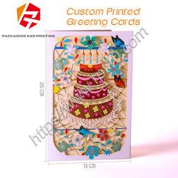 El cartón plegado personalizado colorido evento de tarjetas de felicitación personalizada impresión de libros invitación vacaciones