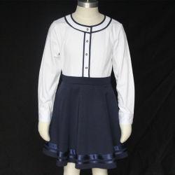 맞춤 아동복 걸 드레스드 만다린 칼라 초등학교 유니폼 치마