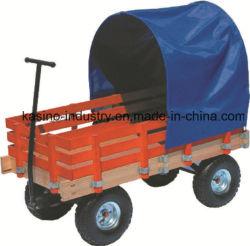 Reboque de madeira ou vagão com protecção contra chuva, Ferramenta de brinquedo Carrinho tc4200