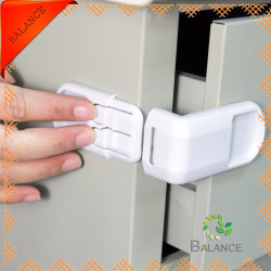 Baby-Sicherheits-Schrank-Riegel-Ecken-Verriegelung (BAL-001D)