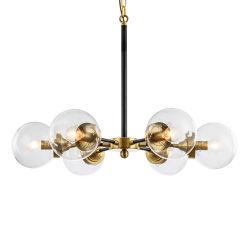 Simple lámpara de araña de cristal decorativo Edison