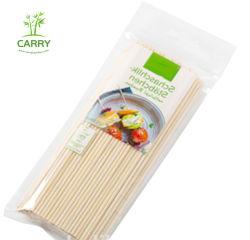 110 PCS 7 polegadas espetos de bambu - 5mm de espessura semi naturais apontou varas de bambu Caramelo churrascos Candy Apple emperra
