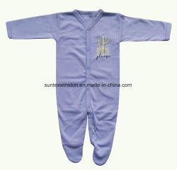 Tissu 100 % Interlock de coton vêtements de bébé nouveau-né