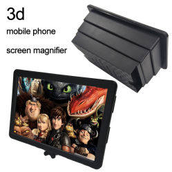 Ampliador de pantalla del teléfono de pantalla 3D HD Amplificador Amplificador de teléfono móvil teléfono de pantalla proyector 3D para películas Video en Vivo, se adapta a todos los teléfonos