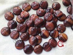 Природные красный глаз тигра камня раунда Cabochon гранулы драгоценных камней