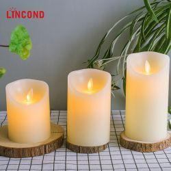 Home Decoratie Flameless LED kaars oplaadbaar met afstandsbediening
