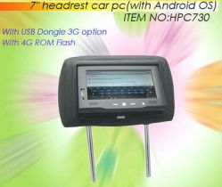 Подголовник 7 ПК с ОС Android WiFi и 3G функции