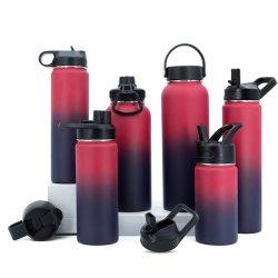 Bottiglia di acqua doppia di sport di vuoto dell'acciaio inossidabile di alta qualità