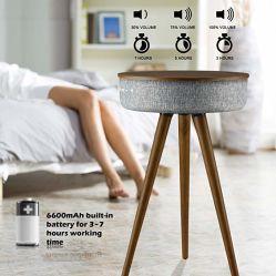 Mesa de madera con altavoz Bluetooth y Wireless Cargador Altavoz Activo profesional