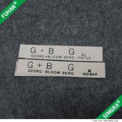 Diseño profesional de algodón orgánico etiquetas personalizadas