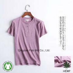 Katoenen van de Hennep van vrouwen Organische v-Hals T-shirts (WSTB)