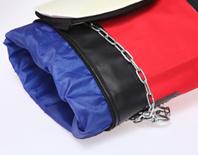 Cubierta de la bolsa de perforación baratos personalizados colgando bolsa de arena cubierta PU vaciar la bolsa de boxeo
