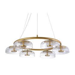 Casa moderna de LED de iluminación de pared lámparas colgantes de cristal lámpara de araña de interiores