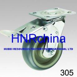 Высокопроизводительный промышленный поворотный с двойной тормозной пластины верхнего самоустанавливающегося колеса