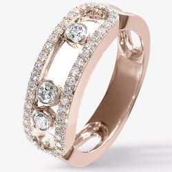 Микро Настройка украшения 925 Silver переместить кольца моды Gold покрытие