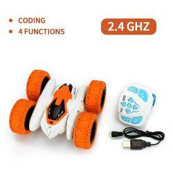doppio chiaro di 2.4GHz LED parteggiato 360 gradi che girano la mini automobile di prodezza RC di telecomando della vigilanza per i capretti