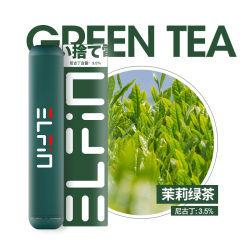 Best Seller el sabor del té verde Elfin inteligente Cigarrillo Electrónico Desechable
