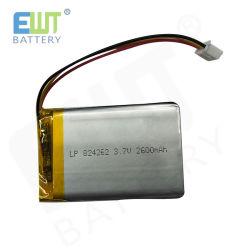 Zelle der Ewt Drohne-Batterie-Lp824262 2600mAh des Plastik-Li-PO
