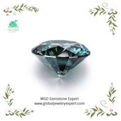 Moissanite 다이아몬드 반지를 만들기를 위한 5mm Moissanite 원석 캐럿 가격 당 도매에 녹색 까만 백색 노랗고 또는 까만 원형