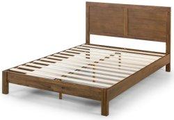 Деревянные кровати платформы / цельной древесины матрас Foundation / No Box пружину необходимо / деревянный настил поддержка / Легкая сборка, двуспальной кроватью