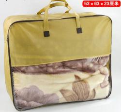Manta Manta tejida bolsa de embalaje de almohadas con ventana de PVC, bolsa ecológica reutilizable Mayorista de PP reciclable regalo Bolsa de plástico Promoción personalizada