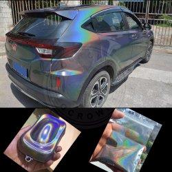 Holograma láser espejo cromado Rainbow Glitter de pigmento en polvo de mica
