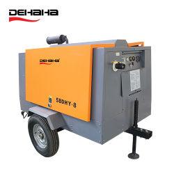 compressore d'aria a vite rotativo diesel portatile guidato diretto iniettato olio resistente elettrico industriale 7~22bar per la piattaforma di produzione