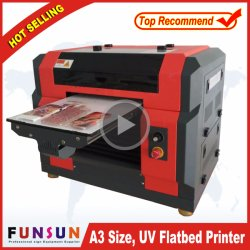 Haut de page La vente de format A3 de la tête Dx Kt Board / Pen / Mug Machine d'impression A3 de l'imprimante Imprimante scanner à plat UV