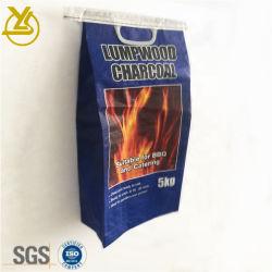 5 kg de peso 10kg BOPP laminado de tejido de la bolsa de embalaje con mango de plástico de carbón, cemento, químicos, mortero
