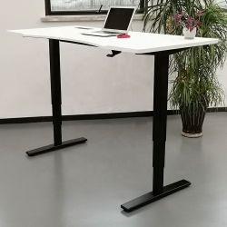 Patas plegables fácil montaje ajustable de altura neumático sentarse a la Oficina de Soporte Soporte de escritorio de escritorio